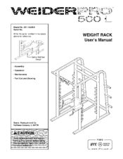 NORDICTRACK PRO 500 L 831.15500.0 User's Manual (20 pages)