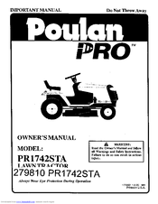 Poulan pro 279810 PR1742STA Manuals