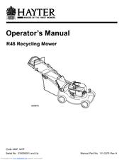 Hayter R48 447F Manuals