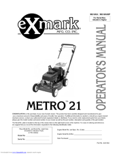 Exmark M216KA, M216KASP Manuals