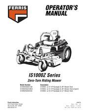 Ferris IS1000ZKAV23/52 Manuals