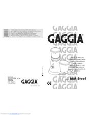 Gaggia MM STEEL Manuals