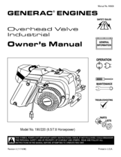 Generac 190/220 Manuals