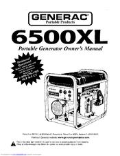 Generac 6500XL 09779-2 Manuals