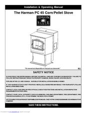 Harman Stove Company PC 45 Manuals