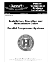 Heatcraft Refrigeration Products H-IM-72A Manuals