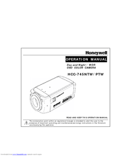 Honeywell HCC-745NTW/PTW Manuals