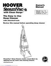 Hoover SteamVac F5903-900 Manuals