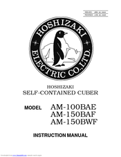 Hoshizaki AM-100BAE Manuals