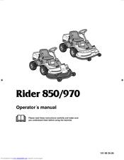 Husqvarna Rider 970 Manuals