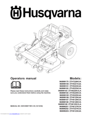 Husqvarna 968999181/ZTH5223KAA Manuals