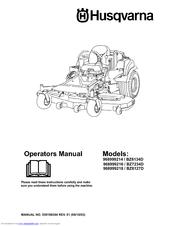 Husqvarna BZ6127D Manuals