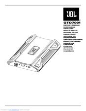 Jbl GTO7001 Manuals