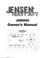 Jensen JHD905 Manuals