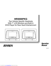 Jensen HR9000PKG Manuals