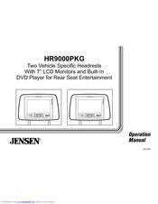 Jensen HR9000PKG Manuals