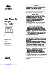 Jøtul GF 400 DV Sebago Manuals