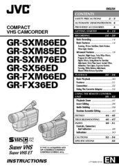 Jvc GR-SXM85ED Manuals