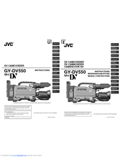 JVC GY-DV550 Instructions Manual (54 pages)