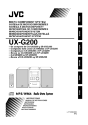 Jvc Micro Component System UX-G200 Manuals