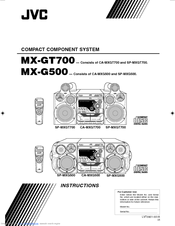 Jvc MX-G500UA Manuals