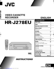 Jvc HR-J278EU Manuals