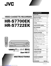 Jvc HR-S7722EK Manuals