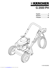 Karcher G 2500 PH Manuals