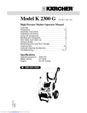 Karcher K 2.300 Manuals