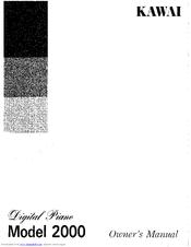 Kawai Digital Piano model 2000 2000 Manuals