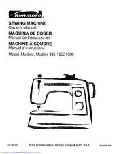 Kenmore 385.162213 Manuals