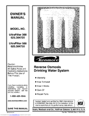 Kenmore ULTRAFILTER 300 625.384720 Manuals