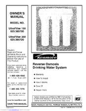 Kenmore ULTRAFILTER 350 625.385720 Manuals