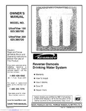 Kenmore ULTRAFILTER 350 625.385720 Manuals
