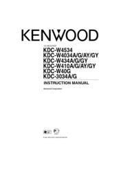 Kenwood KDC-W4534, KDC-W4034A, KDC-W434AY, KDC-W410A, KDC