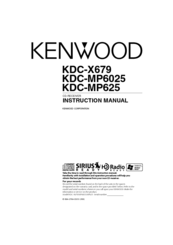Kenwood KDC-X679 Manuals