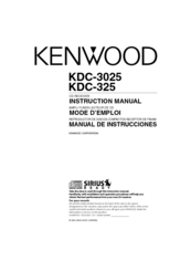 Kenwood KDC-325 Manuals