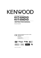 Kenwood KVT-526DVD Manuals