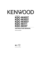 Kenwood KDC-W3037 Manuals