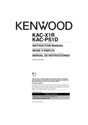 Kenwood KAC-PS1D Manuals