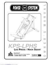 Keys Fitness LEG PRESS / HACK SQUAT KPS-LPHS Manuals
