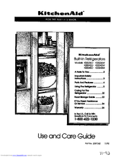 KitchenAid KSSS42D User Manual (26 pages)