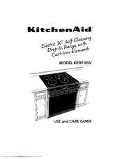 Kitchenaid KEDT105V Manuals