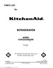 Kitchenaid KSRS25QAWH00 Manuals