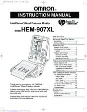 Omron HEM-907XL IntelliSense Manuals
