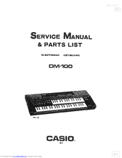 Casio DM-100 Manuals