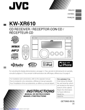Jvc KW-XR610 Manuals