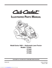 Cub Cadet LT1046 Manuals
