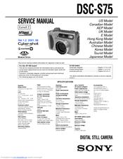Sony DSC-S75 Manuals