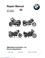 Bmw K100 LT Manuals